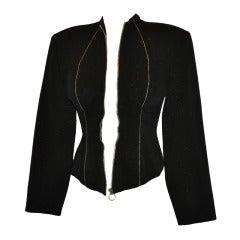 Yoshji Yamamoto Padded-Front Zipper Jacket