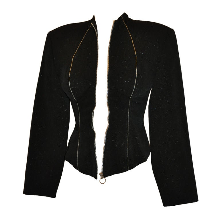 Yoshji Yamamoto Padded-Front Zipper Jacket For Sale
