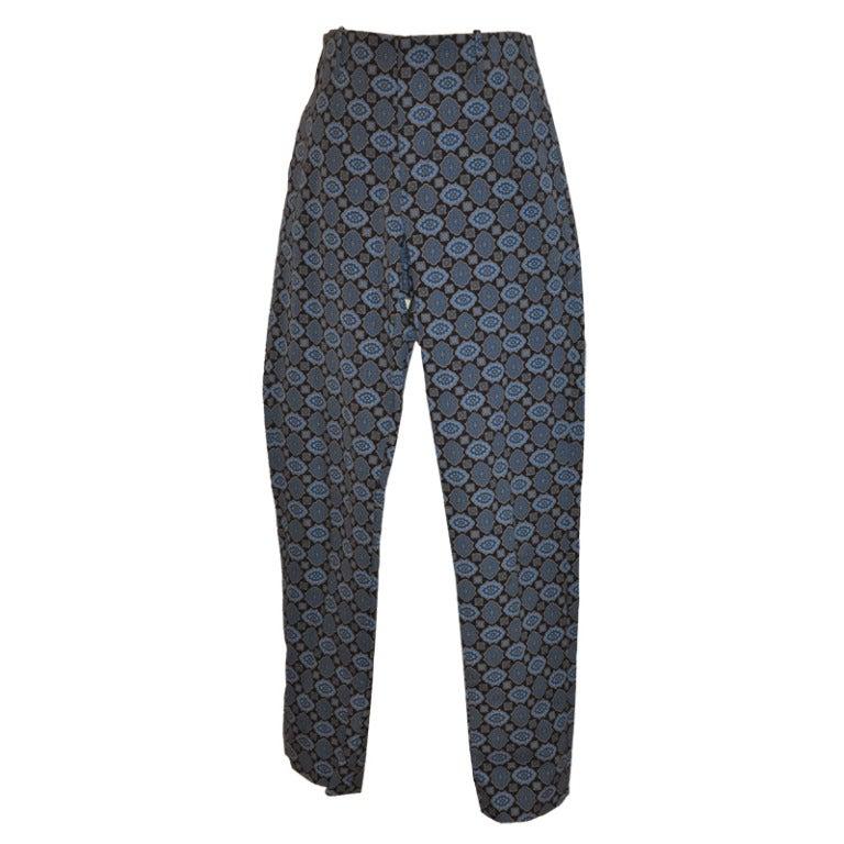 Prada Shades of Blue Print Trousers