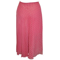 Judy Hornby 'Couture' Double-Layered Pink & White Bias-Cut Chiffon Skirt