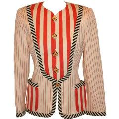 Emanuel Ungaro Multi-Striped Patch Pocket Jacket