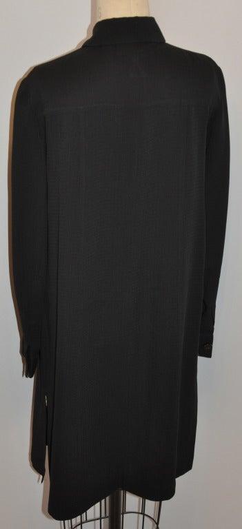 Women's Les Copains Black Button-Down Shirt-Dress For Sale