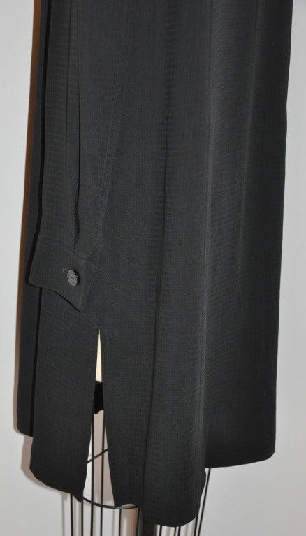 Les Copains Black Button-Down Shirt-Dress For Sale 1
