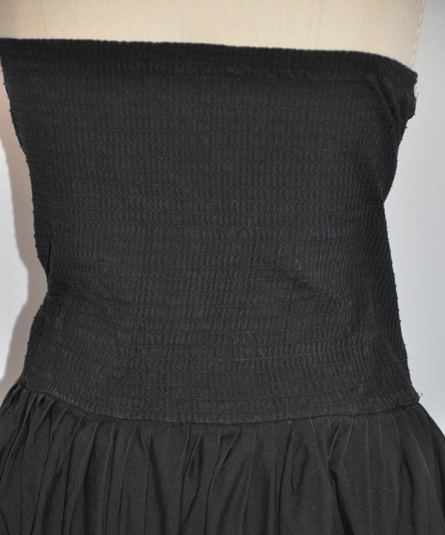 Norma Kamali Black Strapless Dress In Excellent Condition For Sale In New York, NY