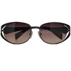Carmen Marc Valvo Black Hardware Sunglasses