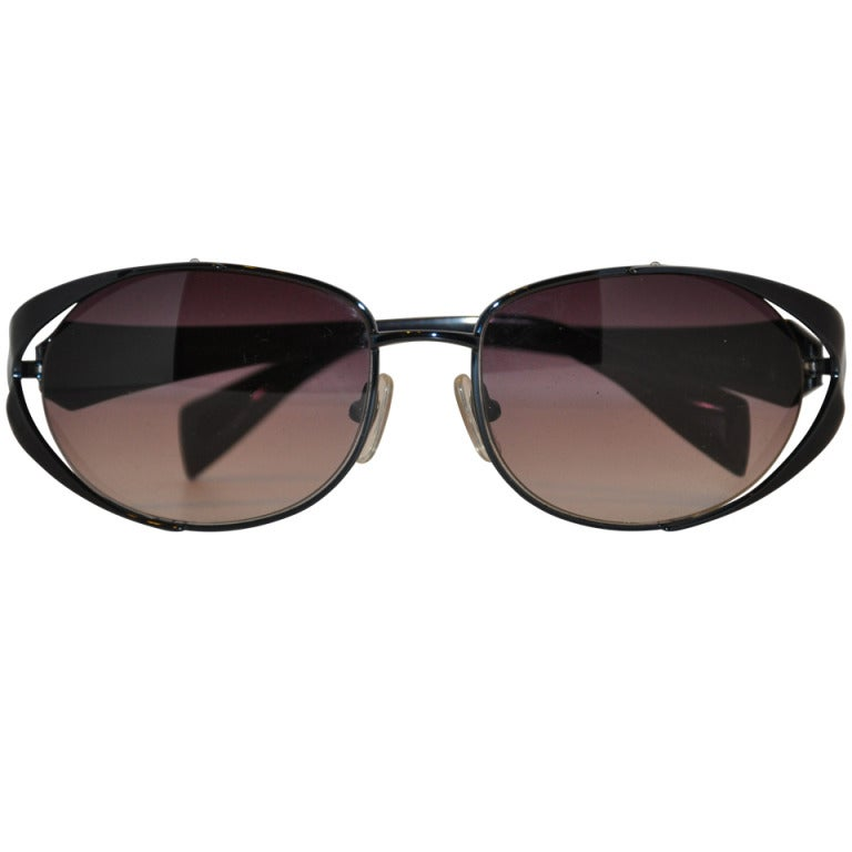 978f214a906 Carmen Marc Valvo Black Hardware Sunglasses For Sale at 1stdibs