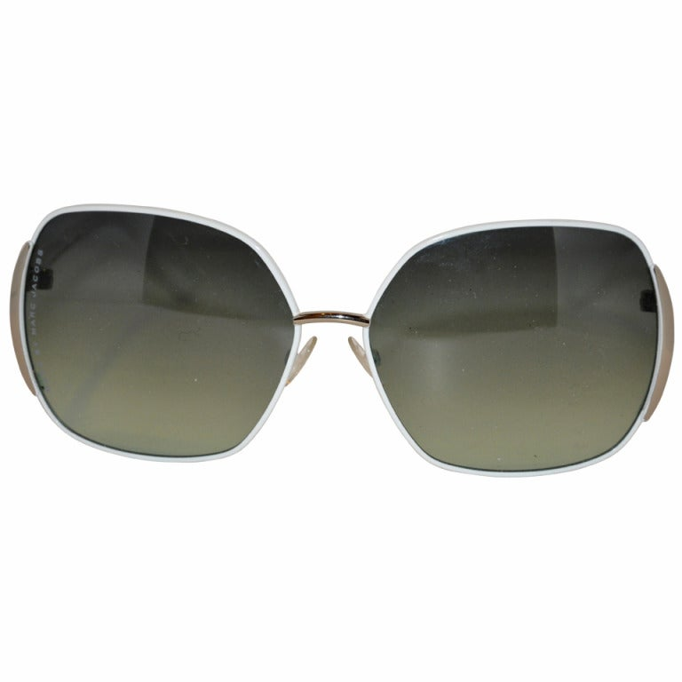 Marc Jacobs White Hardware-Frame Sunglasses