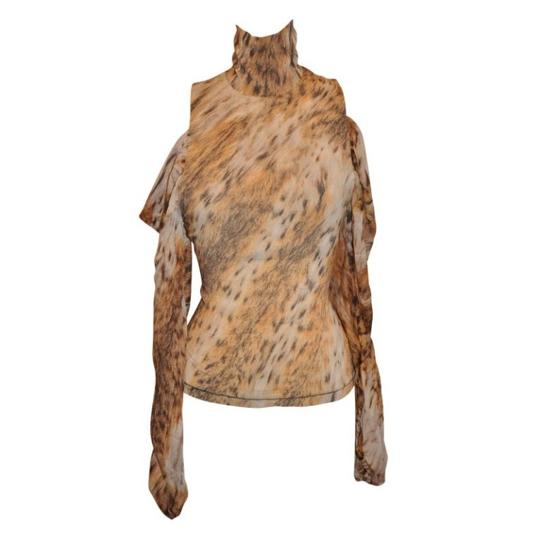 Roberto Cavalli High-neck Stretch Pull-Over