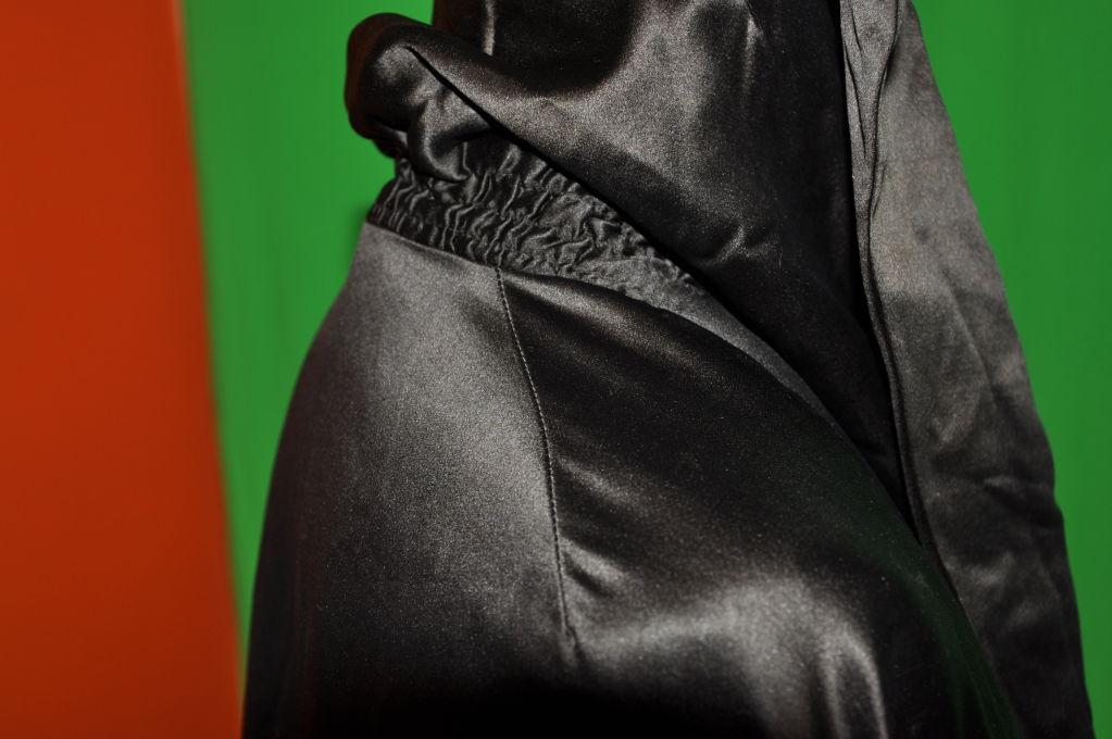 Victorian black silk opera coat For Sale 1