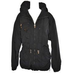 Bogner Black Hooded Zippered Jacket