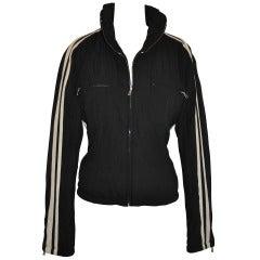 Bogner Black with Double-Stripe Zippered JAcket