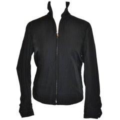 Commes des Garcon Zipper Jacket with Racer's Check Stripe Detailing