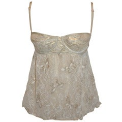 Dolce & Gabbana Stretch Lace Top with Built-In Bra