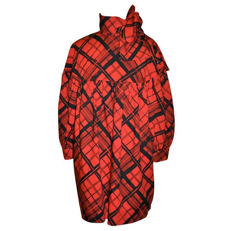 Yves Saint Laurent vintage artist smock dress