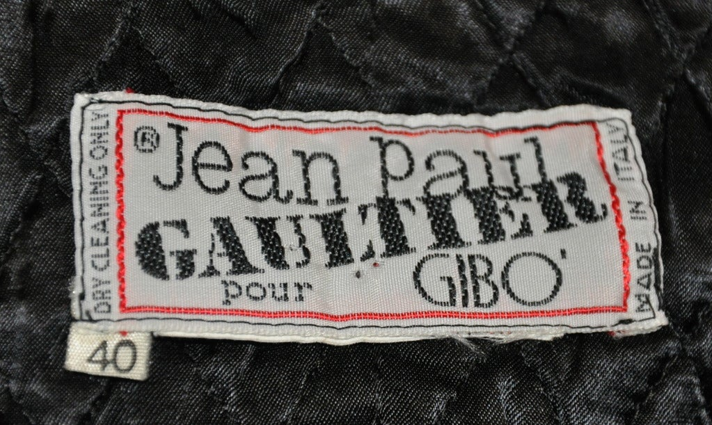 Women's Jean Paul Gaultier with Black Leather Eyelet Detailing Blazer For Sale