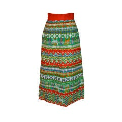 Morton Myles for Malcolm Charles embroidered maxi skirt