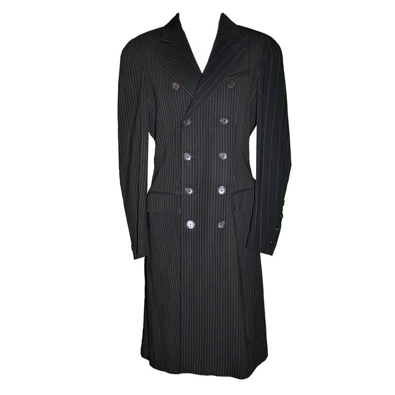 Jean Paul Gaultier multi-pinstriped coat