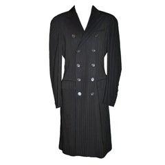 Jean Paul Gaultier multi-pinstriped coat
