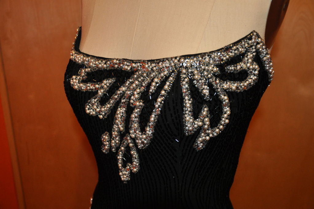 "Bob Mackie ""Boutique"" strapless sequins cocktail dress 7"