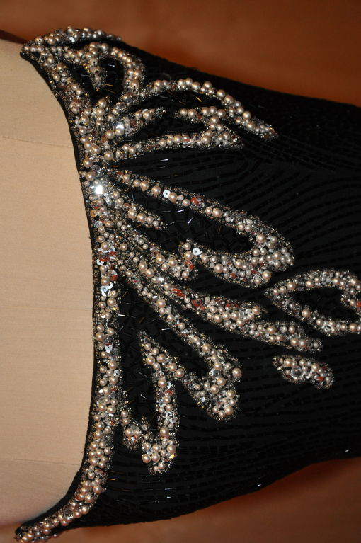 "Bob Mackie ""Boutique"" strapless sequins cocktail dress 8"