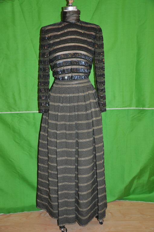 Oscar de la Renta two-piece evening gown 2