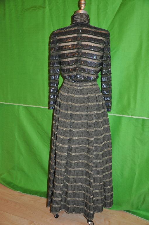 Oscar de la Renta two-piece evening gown 3