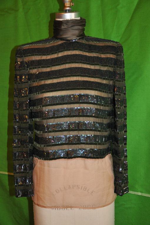 Oscar de la Renta two-piece evening gown 4
