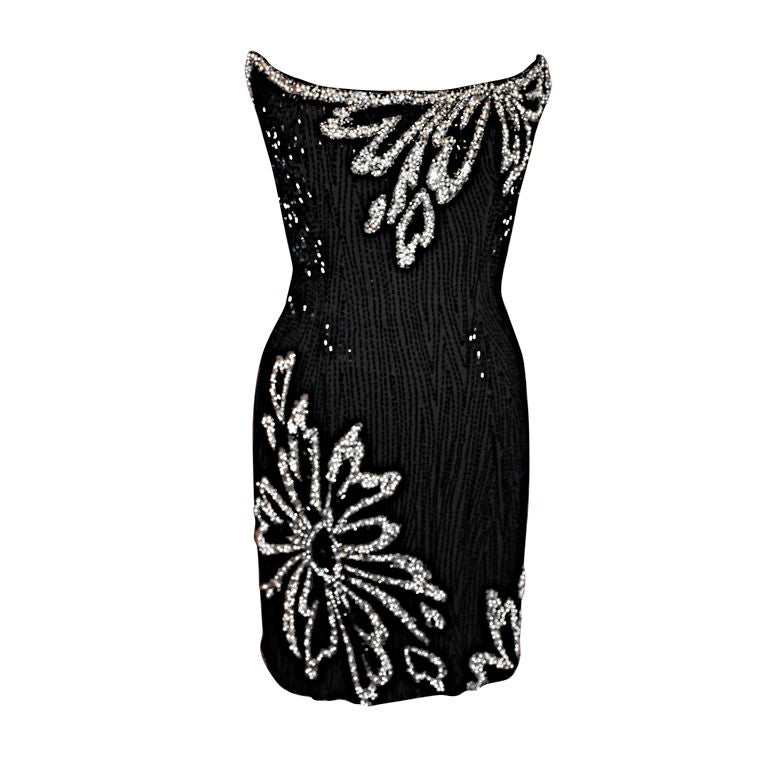 "Bob Mackie ""Boutique"" strapless sequins cocktail dress"