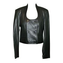 Michael Hoban for North Beach Leather crop leather jacket