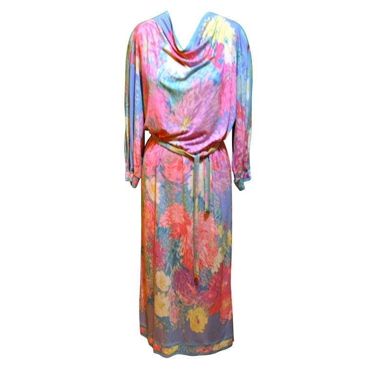 "Leonard of Paris, Multicolored ""Splash"" Dress For Sale"