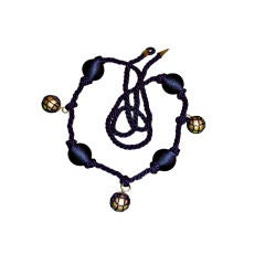 Alma 'Couture' Navy tie belt.