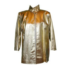 Yves Saint Laurent  Rive Gauche gilded gold coat