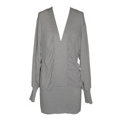 Stella McCartney metallic gray tunic top