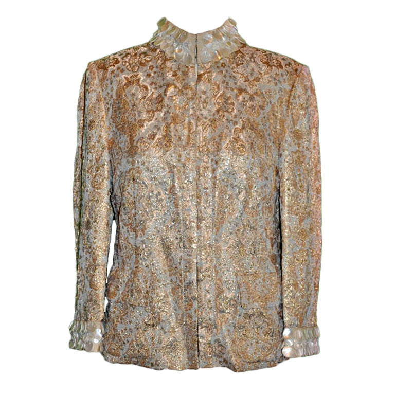 Dolce & Gabbana gold brocade evening jacket