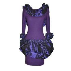 Isabelle Allard Body-hugging Pouf-Pouf wool jersey dress