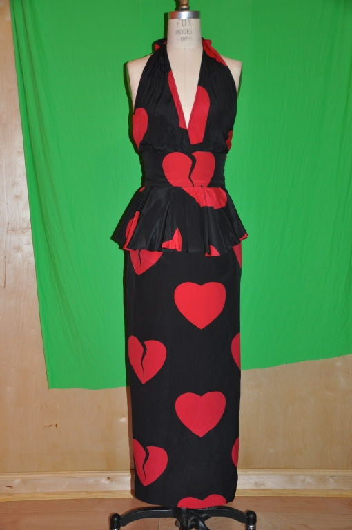 "Moschino Couture ""Hearts"" gown/disco dress 2"