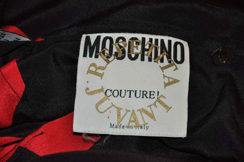 "Moschino Couture ""Hearts"" gown/disco dress 7"