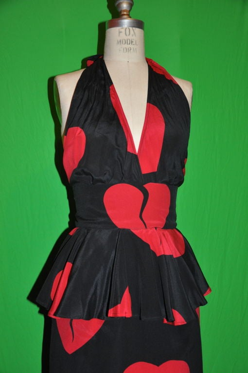 "Moschino Couture ""Hearts"" gown/disco dress 8"
