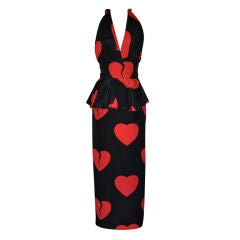 "Moschino Couture ""Hearts"" gown/disco dress"