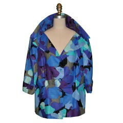 Pauline Trigere Abstract motif silk jacket