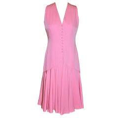 Mollie Parnis 'Boutique' Pink silk dress
