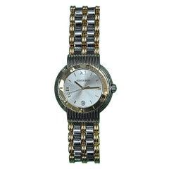"Men's Boucheron ""Solis"" stainless & 18k gold watch"