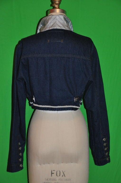 Jean Paul Gaultier denim crop jacket 3