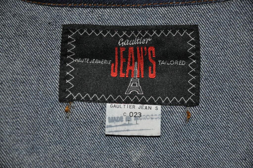 Jean Paul Gaultier denim crop jacket 5