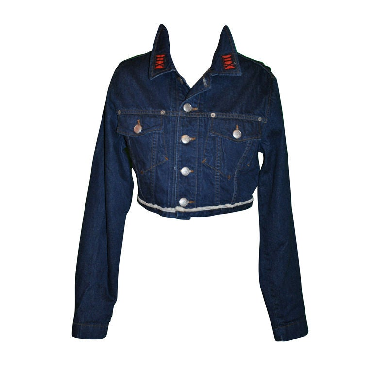 Jean Paul Gaultier denim crop jacket 1