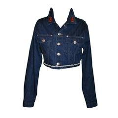 Jean Paul Gaultier Denim Crop Jacket