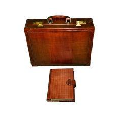 Salambo Calfskin Briefcase and Agenda set