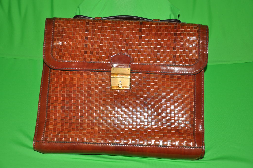 Salambo (Italy) woven leather soft briefcase 2