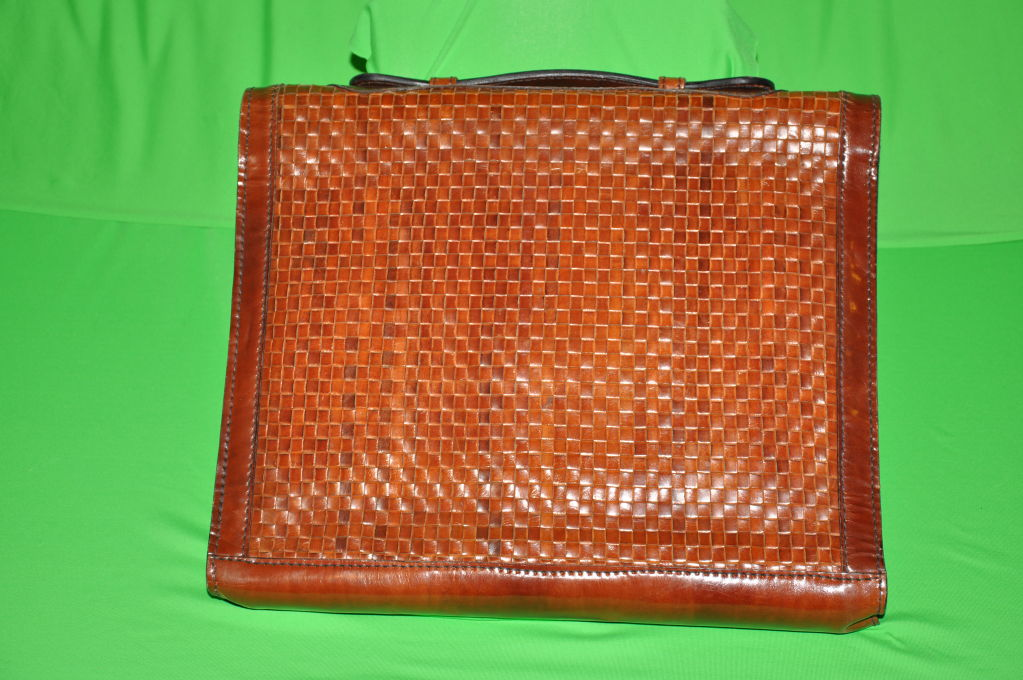 Salambo (Italy) woven leather soft briefcase 3
