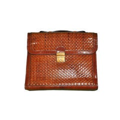 Salambo (Italy) woven leather soft briefcase